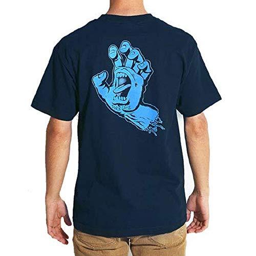 ネイビー/Sサイズ/サンタクルズ SANTA CRUZ スケボー Tシャツ HAND TEE NO111