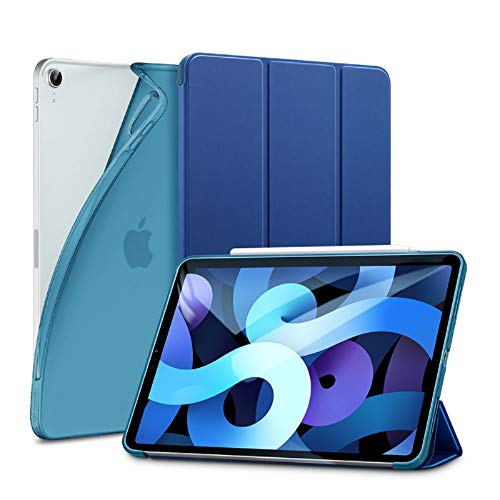 ESR Slim Smart Case for iPad Air 4 2020 10.9 inch [Viewing/Typing Stand Modes] [Flexible TPU Back] Rebound Series, Blue