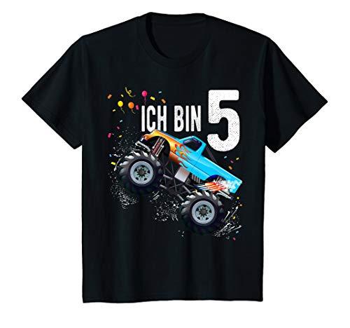 Kinder 5 jahre Junge Mädchen Geburtstag Shirt Monster Truck T-Shirt