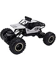 Alloy Dirt Drift Remote Controlled Rock Car RC Monster Truck, Four Wheel Drive, 1:16 Scale 2.4 Ghz, Silver