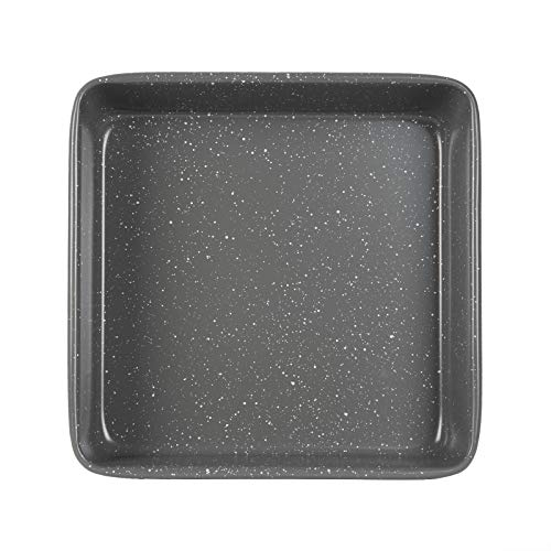 """Cook with Color Bakeware Non Stick Square Pan, Speckled 9x9"""" Baking Pan, Pan for Cooking (Grey)"""