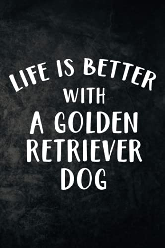 Cocktail Recipe Book - Life Is Better With A Golden Retriever Dog Gift For Lover Pretty: Blank Minimalist Cocktail and Mixed Drink Recipe Book & ... for 100+ Alcoholic Beverages,High Pe