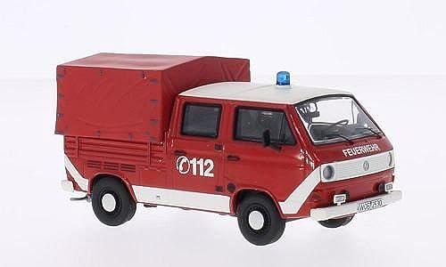 para barato VW T3a DoKa, rojo rojo rojo blanco, Departamento de Bomberos, 0, Modelo de Auto, modello completo, Premium ClassiXXs 1 43  Tienda 2018