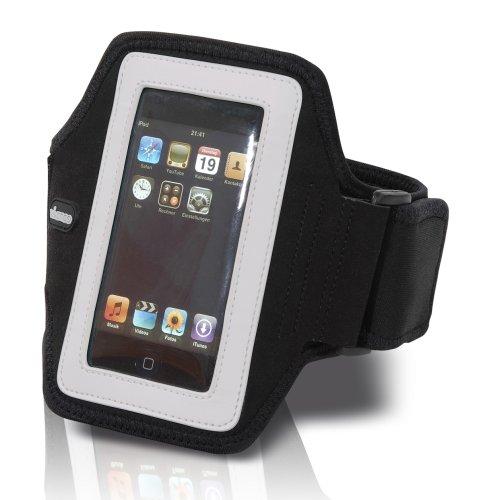 Vivanco MP SU BLG correa de brazalete deportivo Universal (ajustable hasta 44,5 cm, cierre de velcro) para MP3-Player, touch Apple iPod, Classic y iPhone gris