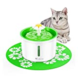isYoung Cat Water Fountain,1.6L Dog&Cat Fountain Automatic Pet Water Dispenser with Replacement Filter and...