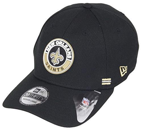 New Era Orleans Saints 39thirty Stretch Cap NFL 2020 Sideline Road Alternative Black - S-M