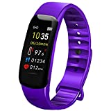 AUBEINSON Fitness Tracker with Oxygen Monitor,Activity Tracker Watch with Body Temperature Blood Pressure Heart Rate Monitor,Smart Watch with Steps Watch,Pedometer Watch for Kids Women Men (C-Purple)