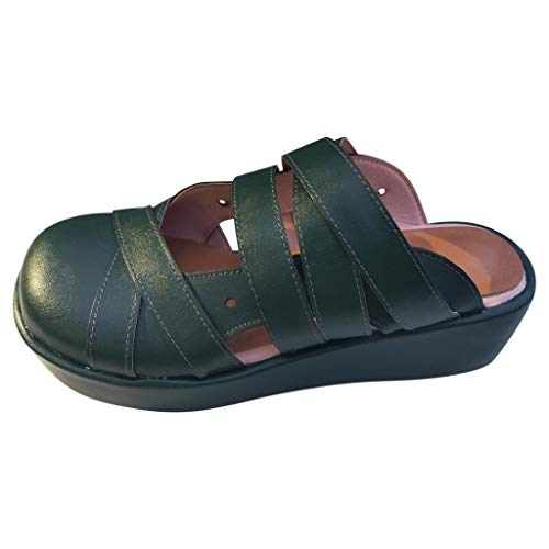 KERULA Plateau Sandalen, Squaretoe Mules Hallow Cross Lazy Wedges Kausal Hausschuhe Damenschuhe Slipper Shoes Strandschuhe Sandaletten Schuhe
