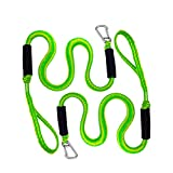 PWC Bungee Dock Line, 4ft Stretchable Boat Dockline Mooring Rope - Perfect for Jet Ski, Power Boat, Kayak, Pontoon (2Pcs)