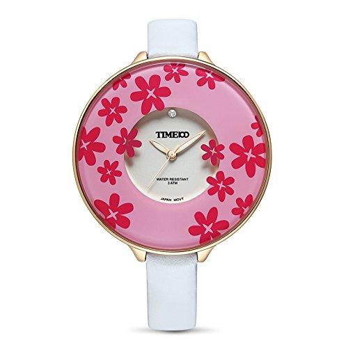 Time100 Reloj de Bolsillo Color Blanco Mujer