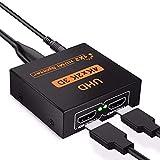 HDMI 分配器 HDMIスプリッター 切り替え 1入力 2出力 2画面 同時出力 4K*2K @30Hz 1080P 3D 高解像度 PC PS4 Xbox 任天堂スイッチ Fire TV Stick プロジェクター 対応