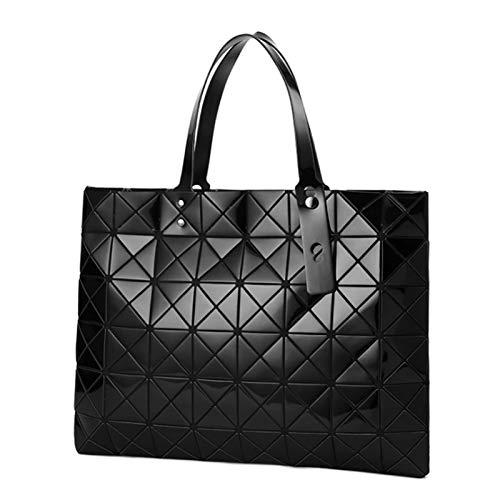 Bolsa De Cruz De Diamante Geométrico Bolso Láser Bolso Láser Bolso De Viaje Bolsa De Hombro(Size:44 * 33 * 1cm,Color:Negro)