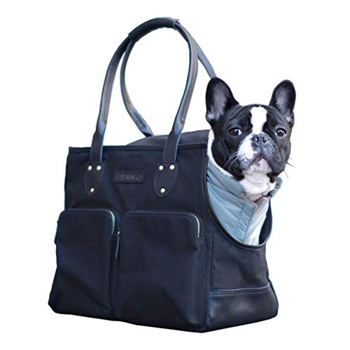 DJANGO Dog Carry Bag - Waxed Canvas and Leather...