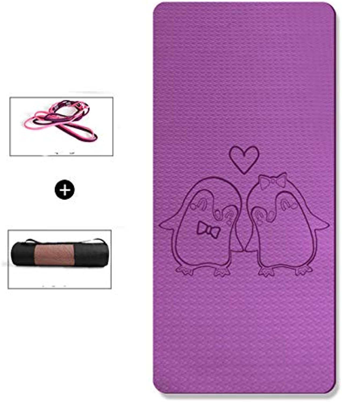LXMBox Karikaturkind-Yoga-Matte verdickte verbreiterte Mdchen-Tanzmatte übungsmatte Rutschfeste Matte, hohe Ausdehnungs-Eignungsmatte, kriechende Kinderdecke - 183 × 80cm,D