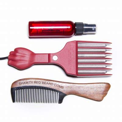 Shawty Red Hot Pick, Shawty Red Beard Conditioner Spray & Shawty Red Beard Comb