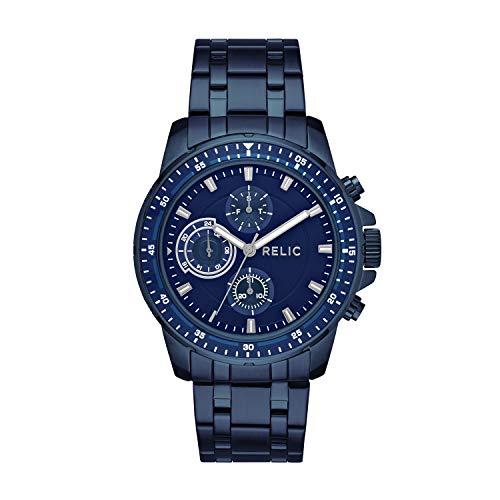 Relic by Fossil Men's Heath Quartz Stainless Steel Sport Watch, Color: Blue (Model: ZR15937)