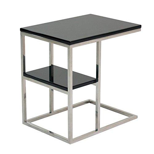 designement Wally Table d'appoint, Bois, Noir, 48 x 35 x 50 cm