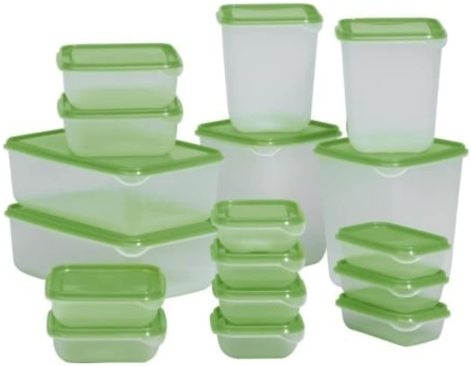 Pruta Food Container 601.496.73, Set of 17, Green, 3-Pack
