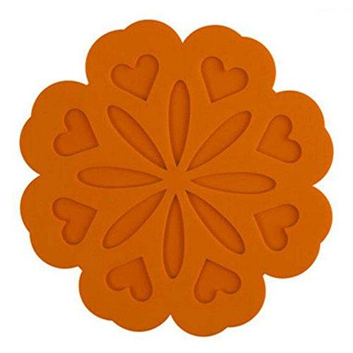 Ensemble de 4 Orange Isolation Tapis Place Mats pour Petit déjeuner Dîner
