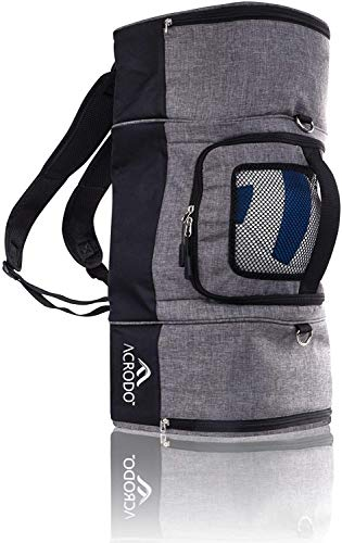 Acrodo Volleyball Backpack with Volleyball Holder, Shoe Compartment, Lunch Cooler - Sports Duffel...
