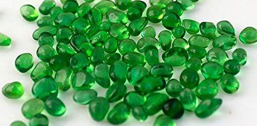 ZLDFAN Runde Glaskiesel 1000g 2mm-7cm Klarglasperlen dekoratives Kristallvasenaquarium Freunde, die Dekoration und Design mögen-Grün 5-7mm