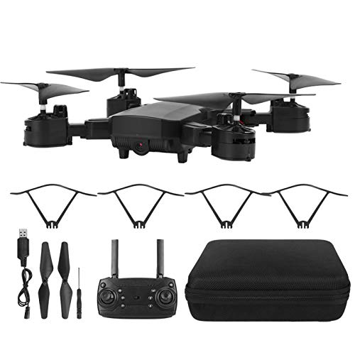 Okuyonic Drone Plegable Vuelo RC Drone Regalo Fiesta Familiar Vacaciones Deportes al Aire Libre Ejercicio(Black 1080P, Insect)