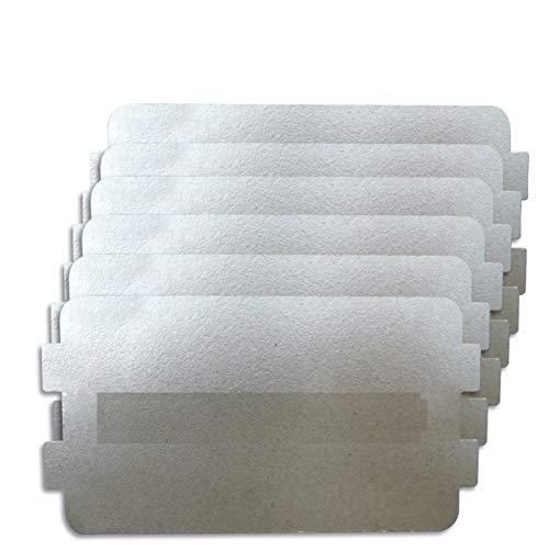 L-Yune, 6pcs 10.7cm * 6.4cm Ersatzteile Eindickung Mica Platten Mikrowellen-Ofen Blätter for Galanz for Midea for Panasonic for LG Etc. Magnetron Cap