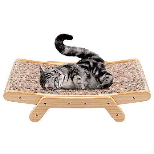 JR Knight Katzen Kratzbrett für Katzen Kratzmöbel Katzenbett Kratzmatte Kratzlounge Recycelbar Kratzpad Kratzspielzeug aus Wellpappe für Krallenpflege Schlafen
