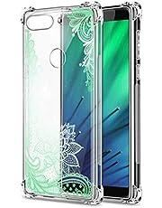 Oihxse Cristal Compatible con Samsung Galaxy A70E Funda Transparente TPU Silicona Estuche Airbag Esquinas Anti-Choque Anti Rasguños Diseño Rosa Flower Caso (Flores B10)