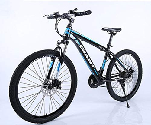 TXX Mountain Bike Speed Bike,Mountain Bike Adult Version,High Carbon Steel Bike,City Bike The Whole Model/Black Blue Chrysanthemum / 26 inches x 17 inches
