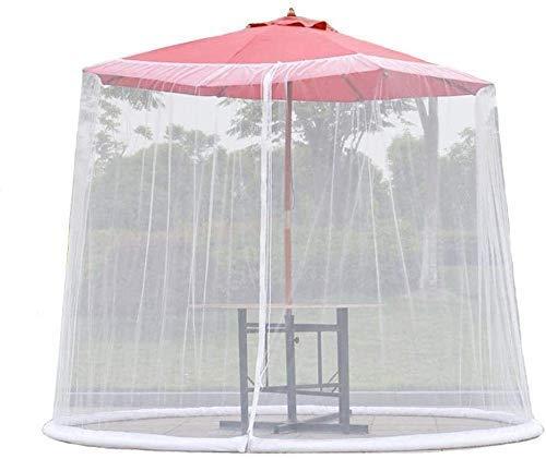 Neu Sonnenschirm Pavillon Regenschirm Ihr Sonnenschirm Wird zum Pavillon Patio Regenschirm Moskitonetz-Abdeckung, Outdoor Gartenschirm Sonnenschirm Moskitonetz-Abdeckung Tischgitter mit Reißverschlus
