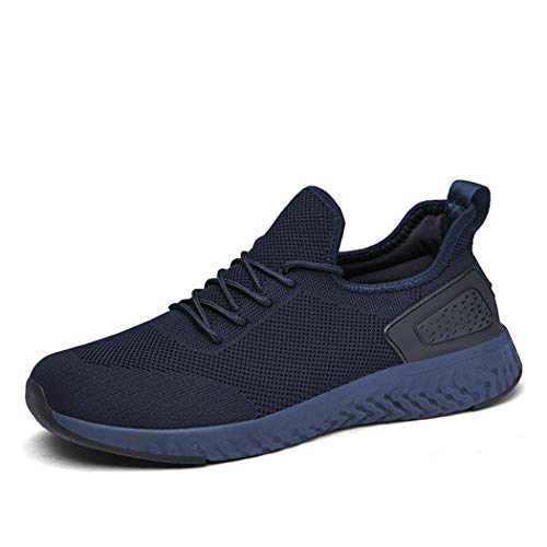 Pyjacos Uomo Donna Scarpe da Corsa Sport Sneaker Palestra Sportive Scarpe Blu,47EU