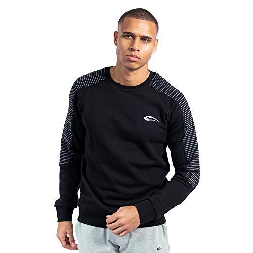 SMILODOX Herren Sweatshirt Riffle   Hoodie für Sport Fitness & Alltag   Sports Pullover - Sweatshirt Sweater - Long Sleeve Sweater - Sports Shirt, Farbe:Schwarz, Größe:XL