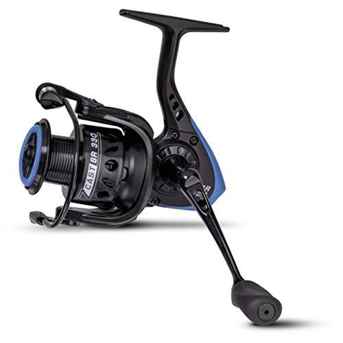 Zebco Premium Z-Cast SR 340 - Carrete de Pesca con Carrete de Aluminio Ligero, Color Negro y Azul