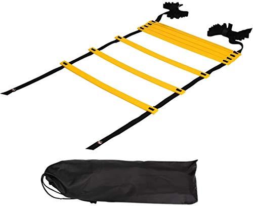 Sutekus ラダー トレーニング 野球 サッカー 7メートル プレート 13枚 収納袋付き 「 連結可能 スピードラ...