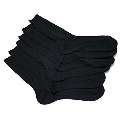 Universaltextilien Gerippte Herren Socken aus 100prozent Baumwolle (6er Pack) (39-45) (sortiert - dunkel)