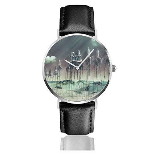 Caravan Dali grünes Lederband Armbanduhr Casual Classic Edelstahl Quarz Business Uhr