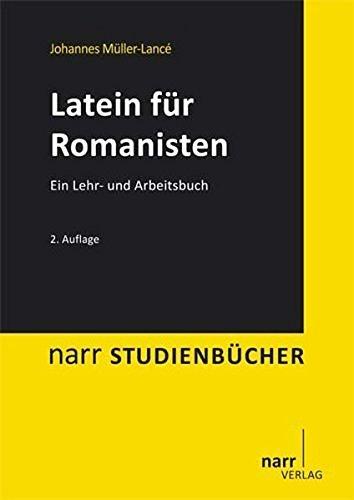 Latein für Romanisten (Narr Studienbücher) by Johannes Müller-Lancé (2012-01-18)
