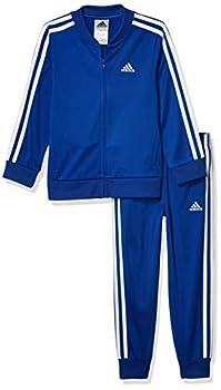 adidas Boys  Toddler Tricot Jacket & Jogger Clothing Set Jogger Style Team Royal Blue 2T