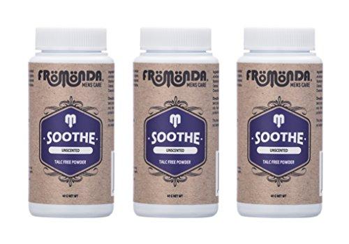 Fromonda Polvo para corporal sin talco - Sin olor o todo natural - (Pack de 3) 40g Blanco