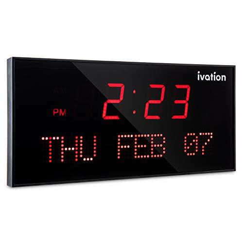 Ivation Oversized Digital LED Wall Clock