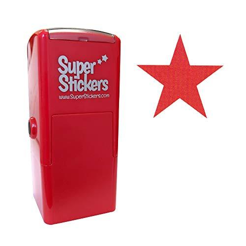 Stamper Solutions - Timbro pre-inchiostrato, motivo: stella, colore: rosso