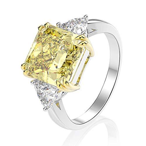 LuckyOne 100% plata de ley 925 creada moissanita citrino zafiro piedra preciosa anillo de compromiso de boda joyería fina al por mayor