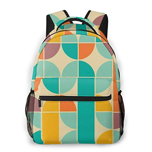Lawenp Colorful Geometric Figure Travel Laptop Backpack Business Anti Theft Slim Durable Laptops Backpack Water Resistant College School Computer Bag for Women & Men Fits 15.6 Inch Notebook
