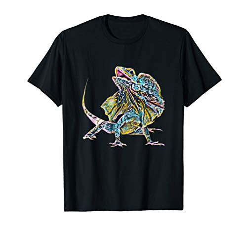 Kragenechsen Shirt Chlamydosaurus Echsen Damen Herren Kinder T-Shirt