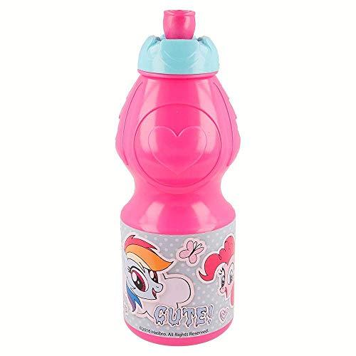 Gourde / Bouteille de sport, 400 ml, autocollant My Little Pony (Mon Petit Poney)