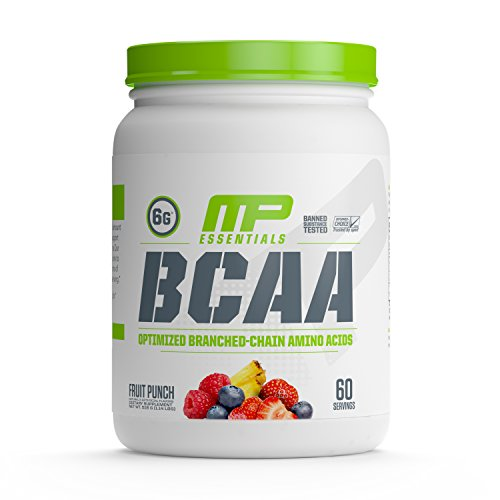 MusclePharm Essentials BCAA Powder, Post-Workout Recovery Drink, Fruit Punch, 60 Servings