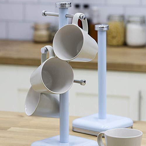 Swan Retro Mug Tree - Duck Egg Blue