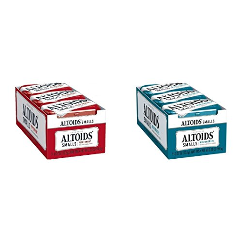 Altoids Smalls Peppermint & Wintergreen Combo Pack 18Count (9 Of Each)