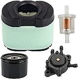 Piezas de repuesto para cortacésped Reemplace 792105 aire prefiltro filtro de aceite Filtro de combustible con bomba de combustible para John Deere LA120 L118 135 Z225 Z425 LA140 LA165 LA175 Briggs &